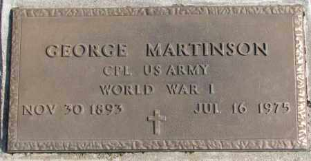 MARTINSON, GEORGE (WW I) - Brookings County, South Dakota | GEORGE (WW I) MARTINSON - South Dakota Gravestone Photos