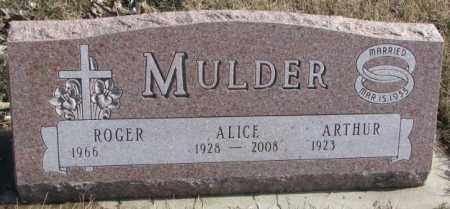 MULDER, ALICE - Brookings County, South Dakota | ALICE MULDER - South Dakota Gravestone Photos