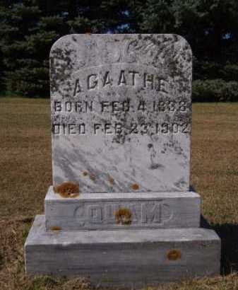 QUAM, AGAATHE - Brookings County, South Dakota | AGAATHE QUAM - South Dakota Gravestone Photos