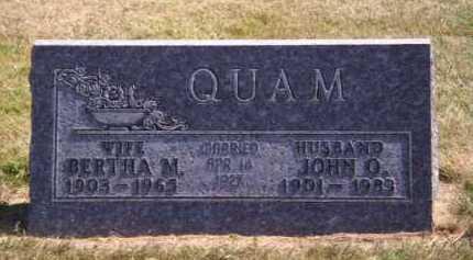 QUAM, JOHN O - Brookings County, South Dakota | JOHN O QUAM - South Dakota Gravestone Photos