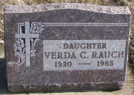 RAUCH, VERDA C. - Brookings County, South Dakota   VERDA C. RAUCH - South Dakota Gravestone Photos