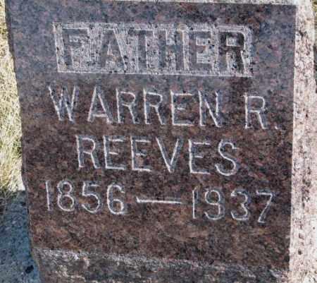 REEVES, WARREN R. - Brookings County, South Dakota | WARREN R. REEVES - South Dakota Gravestone Photos