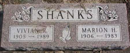 SHANKS, VIVIAN R. - Brookings County, South Dakota   VIVIAN R. SHANKS - South Dakota Gravestone Photos