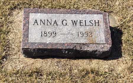WELSH, ANNA G. - Brookings County, South Dakota | ANNA G. WELSH - South Dakota Gravestone Photos