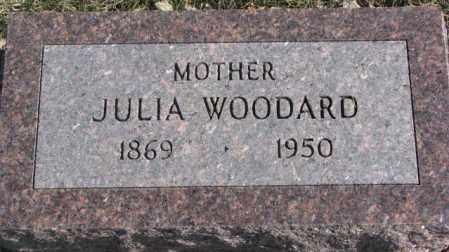 WOODARD, JULIA - Brookings County, South Dakota   JULIA WOODARD - South Dakota Gravestone Photos