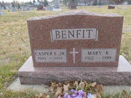 SEILER BENFIT, MARY K - Brown County, South Dakota | MARY K SEILER BENFIT - South Dakota Gravestone Photos