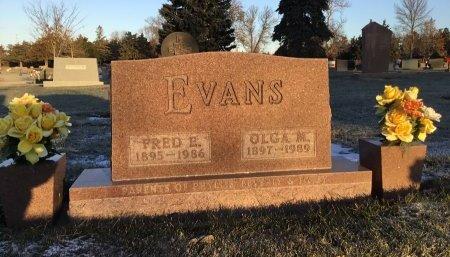 EVANS, OLGA M. - Brown County, South Dakota   OLGA M. EVANS - South Dakota Gravestone Photos