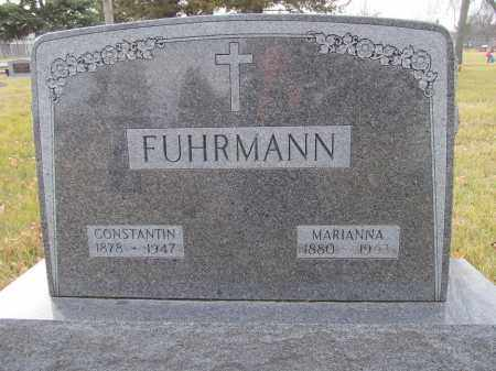 FUHRMANN, CONSTANTIN - Brown County, South Dakota   CONSTANTIN FUHRMANN - South Dakota Gravestone Photos