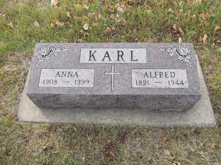 KARL, ALFRED - Brown County, South Dakota   ALFRED KARL - South Dakota Gravestone Photos