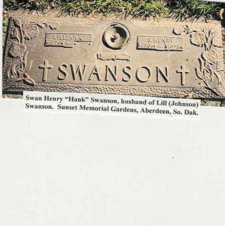 """SWANSON, SWAN HENRY """"HANK"""" - Brown County, South Dakota 