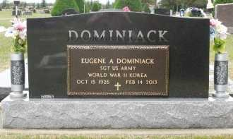 DOMINIACK, EUGENE A (MILITARY) - Brule County, South Dakota | EUGENE A (MILITARY) DOMINIACK - South Dakota Gravestone Photos