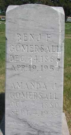 GOMERSALL, BEN J. F. - Brule County, South Dakota   BEN J. F. GOMERSALL - South Dakota Gravestone Photos