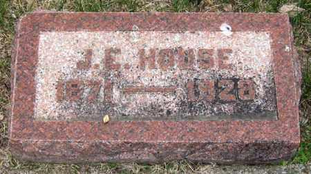 HOUSE, J.E. - Brule County, South Dakota   J.E. HOUSE - South Dakota Gravestone Photos