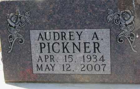 PICKNER, AUDREY A. - Brule County, South Dakota | AUDREY A. PICKNER - South Dakota Gravestone Photos