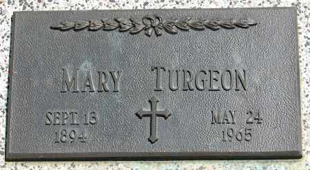 TURGEON, MARY - Brule County, South Dakota   MARY TURGEON - South Dakota Gravestone Photos