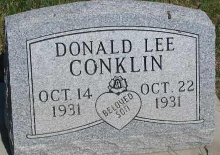 CONKLIN, DONALD LEE - Buffalo County, South Dakota   DONALD LEE CONKLIN - South Dakota Gravestone Photos