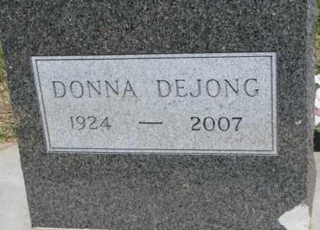 DEJONG, DONNA - Buffalo County, South Dakota | DONNA DEJONG - South Dakota Gravestone Photos