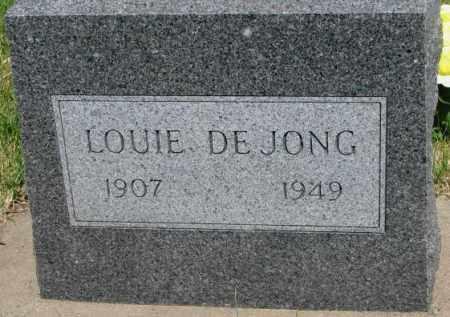 DEJONG, LOUIE - Buffalo County, South Dakota | LOUIE DEJONG - South Dakota Gravestone Photos