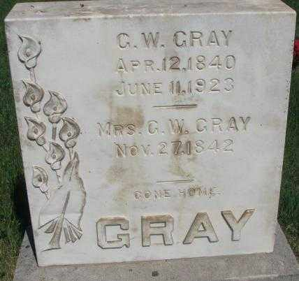 GRAY, G.W. - Buffalo County, South Dakota | G.W. GRAY - South Dakota Gravestone Photos