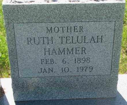 HAMMER, RUTH TELULAH - Buffalo County, South Dakota | RUTH TELULAH HAMMER - South Dakota Gravestone Photos