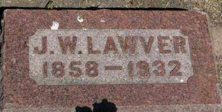 LAWVER, J.W. - Buffalo County, South Dakota | J.W. LAWVER - South Dakota Gravestone Photos