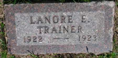 TRAINER, LANORE E. - Buffalo County, South Dakota | LANORE E. TRAINER - South Dakota Gravestone Photos