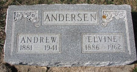 ANDERSEN, ELVINE - Charles Mix County, South Dakota | ELVINE ANDERSEN - South Dakota Gravestone Photos