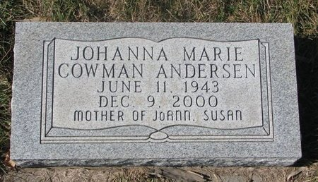 ANDERSEN, JOHANNA MARIE - Charles Mix County, South Dakota | JOHANNA MARIE ANDERSEN - South Dakota Gravestone Photos