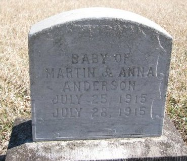 ANDERSON, BABY - Charles Mix County, South Dakota | BABY ANDERSON - South Dakota Gravestone Photos