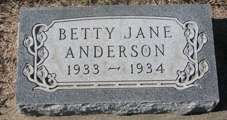 ANDERSON, BETTY JANE - Charles Mix County, South Dakota | BETTY JANE ANDERSON - South Dakota Gravestone Photos
