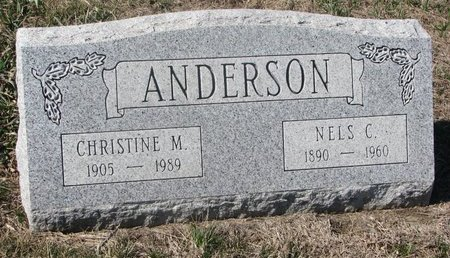 ANDERSON, CHRISTINE M. - Charles Mix County, South Dakota | CHRISTINE M. ANDERSON - South Dakota Gravestone Photos