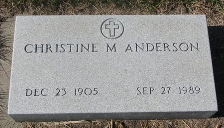 ANDERSON, CHRISTINE M. #2 - Charles Mix County, South Dakota | CHRISTINE M. #2 ANDERSON - South Dakota Gravestone Photos