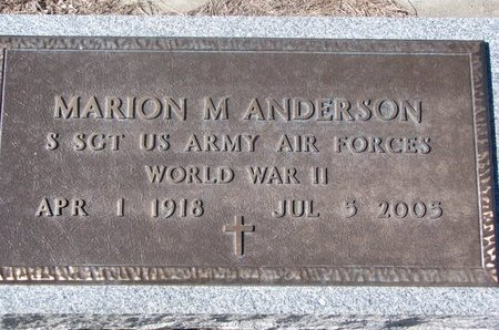 ANDERSON, MARION M. (MILITARY) - Charles Mix County, South Dakota | MARION M. (MILITARY) ANDERSON - South Dakota Gravestone Photos
