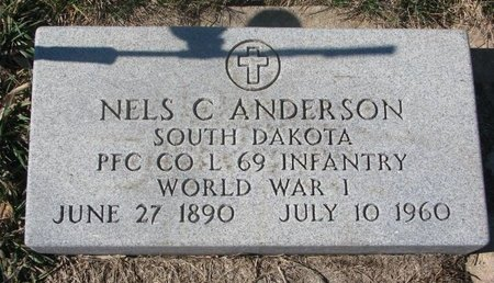 ANDERSON, NELS C. (MILITARY) - Charles Mix County, South Dakota | NELS C. (MILITARY) ANDERSON - South Dakota Gravestone Photos