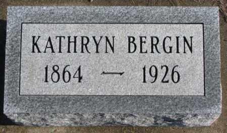 BERGIN, KATHRYN - Charles Mix County, South Dakota   KATHRYN BERGIN - South Dakota Gravestone Photos
