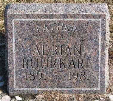 BUURKARL, ADRIAN - Charles Mix County, South Dakota | ADRIAN BUURKARL - South Dakota Gravestone Photos