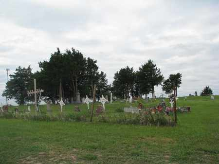 *CEDAR HILL, VIEW FROM CHURCH - Charles Mix County, South Dakota | VIEW FROM CHURCH *CEDAR HILL - South Dakota Gravestone Photos