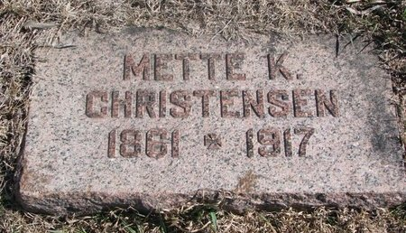 CHRISTENSEN, METTE K. - Charles Mix County, South Dakota | METTE K. CHRISTENSEN - South Dakota Gravestone Photos