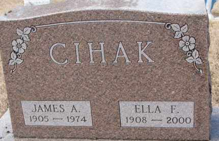 CIHAK, ELLA F. - Charles Mix County, South Dakota | ELLA F. CIHAK - South Dakota Gravestone Photos