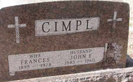 CIMPL, FRANCES - Charles Mix County, South Dakota | FRANCES CIMPL - South Dakota Gravestone Photos