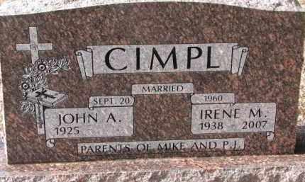 CIMPL, JOHN A. - Charles Mix County, South Dakota | JOHN A. CIMPL - South Dakota Gravestone Photos