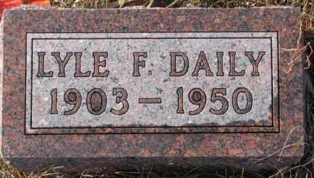DAILEY, LYLE F. - Charles Mix County, South Dakota | LYLE F. DAILEY - South Dakota Gravestone Photos