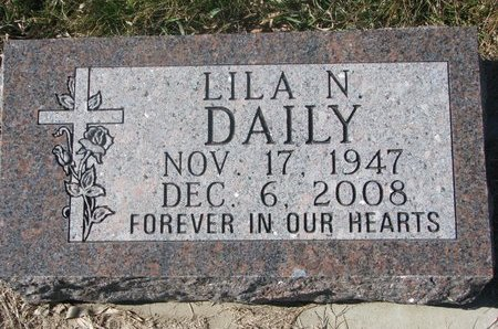 DAILY, LILA N. - Charles Mix County, South Dakota | LILA N. DAILY - South Dakota Gravestone Photos