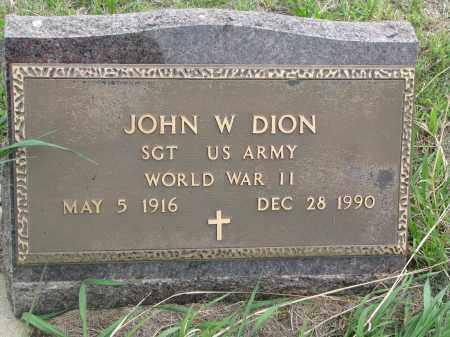DION, JOHN W. - Charles Mix County, South Dakota | JOHN W. DION - South Dakota Gravestone Photos