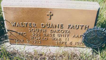 FAUTH, WALTER DUANE - Charles Mix County, South Dakota   WALTER DUANE FAUTH - South Dakota Gravestone Photos