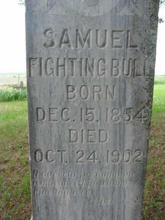 FIGHTINGBULL, SAMUEL (CLOSEUP) - Charles Mix County, South Dakota   SAMUEL (CLOSEUP) FIGHTINGBULL - South Dakota Gravestone Photos
