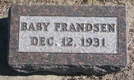 FRANDSEN, BABY - Charles Mix County, South Dakota | BABY FRANDSEN - South Dakota Gravestone Photos