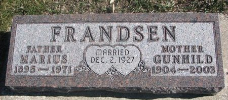 PEDERSEN FRANDSEN, GUNHILD - Charles Mix County, South Dakota | GUNHILD PEDERSEN FRANDSEN - South Dakota Gravestone Photos