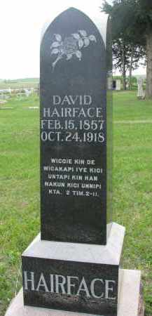 HAIRFACE, DAVID - Charles Mix County, South Dakota   DAVID HAIRFACE - South Dakota Gravestone Photos