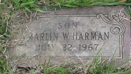 HARMAN, MARLIN W. - Charles Mix County, South Dakota | MARLIN W. HARMAN - South Dakota Gravestone Photos